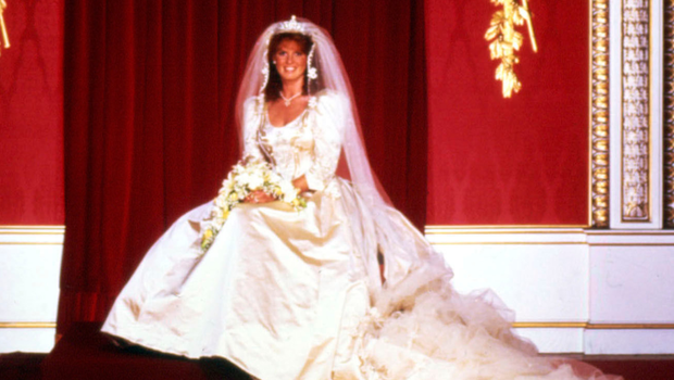 Sarah Ferguson after her wedding to Prince Andrew