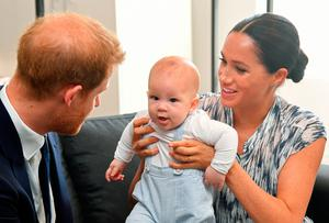 The Duchess with Prince Harry and their son Archie during the ITV documentary