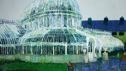 Simon McWilliams' Palm House, Raining, from the collection of the Northern Ireland Civil Service, copyright courtesy of the artist