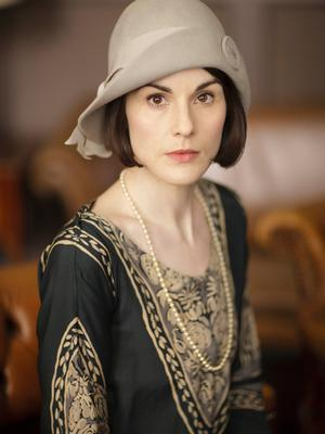 Michelle Dockery as the stoic and complex Lady Mary