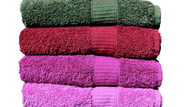 A pile of clean, fresh towels