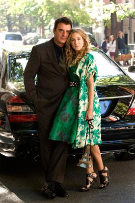 Chris Noth stars as Mr. Big, left, and Sarah Jessica Parker stars as Carrie Bradshaw in Sex and the City
