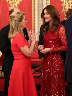 Sophie, Countess of Wessex with Catherine, Duchess of Cambridge