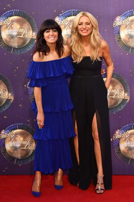 With Tess Daly on BBC's Strictly Come Dancing