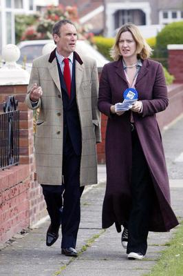 Home Secretary Amber Rudd with her ex-husband AA Gill, who died in December 2016