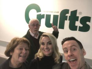 With mum, dad and Holly at Crufts earlier this year