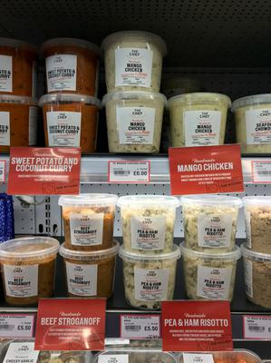 Meals on offer at Eurospar