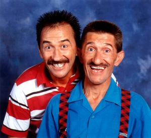 Paul Elliott with brother Barry as The Chuckle Brothers