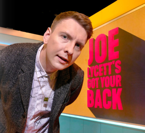Joe Lycett on set for his C4 show Got Your Back