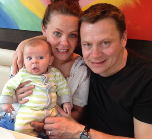 Success story: Rachel with husband Guy and son Ben