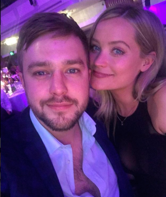 Laura with boyfriend Iain Sterling