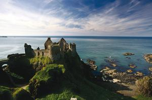 DRAMATIC BACKDROPS: Dunluce Castle and Whiterocks beach were featured in Artemis Fowl