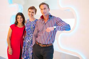 Dr Dawn with Embarrassing Bodies co-hosts Dr Pixie McKenna and Dr Christian Jessen