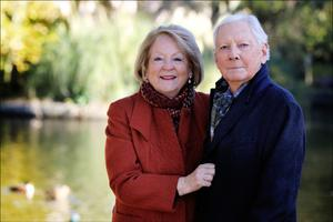 Kathleen and husband Gay Byrne in 2018