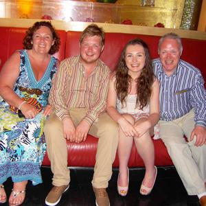 The Black family, left to right, Yvonne, Kyle, Kyra and David, on holiday in Dubai earlier this year