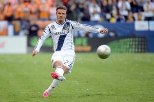 CARSON, CA - DECEMBER 01:  David Beckham #23 of Los Angeles Galaxy has a free kick in the second half while taking on the Houston Dynamo in the 2012 MLS Cup at The Home Depot Center on December 1, 2012 in Carson, California.  (Photo by Harry How/Getty Images)