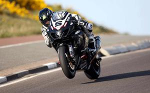 Superbike rider Bruce Anstey pictured at the opening practice night at the Relentless North West 200