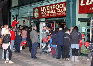 Alan Lewis - PhotopressBelfast.co.uk    5/11/2010Mandatory Credit - Picture by Justin KernoghanLiverpool legend Kenny Dalglish officially opened the new Liverpool club store in Castle Lane, Belfast today.