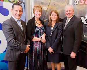 From left: Chris Lomas and Esther and John Hunter from Expelliere with Julie-Ann O'Hare