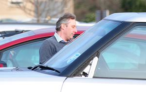 Pacemaker Press Belfast 07-02-2012: Ian Paisley Jr pictured leaving Dundonald hospital.The former first minister and DUP leader Ian Paisley has spent the night at his hospital bedside.Lord Bannside, who is 85, was taken ill on Sunday. He is being treated in the intensive care unit of the Ulster Hospital in Dundonald.Picture By: Pacemaker.
