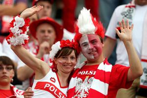 WARSAW, POLAND - JUNE 08:  Poland fans look on ahead of the UEFA EURO 2012 group A match between Poland and Greece at The National Stadium on June 8, 2012 in Warsaw, Poland.  (Photo by Alex Grimm/Getty Images)