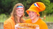 Sisters Anneleise and Monique Van Dam from Holland, who are living in Kilkeel, will be cheering on Holland in the World Cup final tomorrow