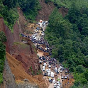 At least 38 people have been killed by the mudslides