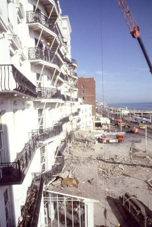12/10/84 of the Grand Hotel, Brighton after a bomb explosion during the Conservative Party conference.