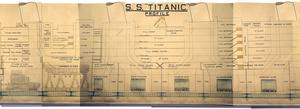 The detailed drawing of the RMS Titanic used at Lord Mersey's inquiry into the 1912 disaster.