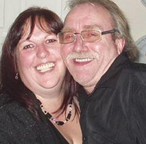 Michael Baker, pictured with his partner Sheila Bright, died after a crash on the A20