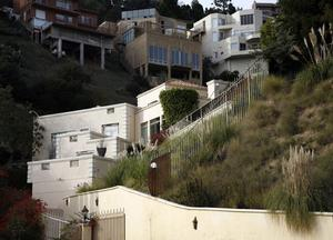 The home of actress Brittany Murphy's husband British screenwriter Simon Monjack, in Los Angeles