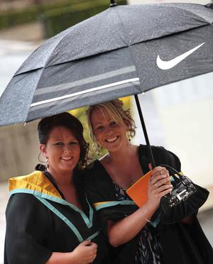 Catherine Bradley and Shauna Mc Geary from Co Tyrone both graduated in Early Childhood Studies.