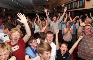 Fans at Rory McIlroy's home club in Holywood watch their hero win the US Open