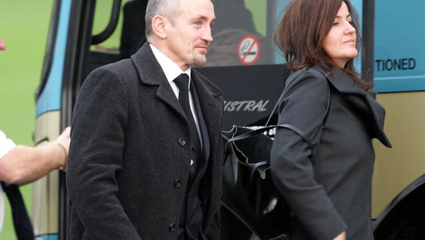 Barry McGuigan and his wife at George Best's funeral