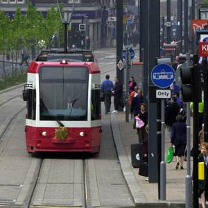 A seven-year-old boy has been injured in a tram accident