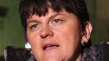 Acting First Minister Arlene Foster outside Stormont
