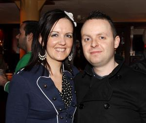 Pictured enjoying the Harp Ice Cold Big Gig on 23rd April are Glenda Robinson and Kenny Burke