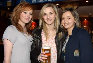 Pictured enjoying the Harp Ice Cold Big Gig on 23rd April are Hannah Watson, Christine Jackson and Laura Mills