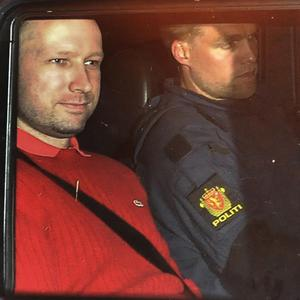 Anders Behring Breivik ended his killing spree the moment police approached him, authorities said (AP)