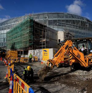 Building firm McNamara Construction, which worked on Lansdowne Road, has shut all its sites