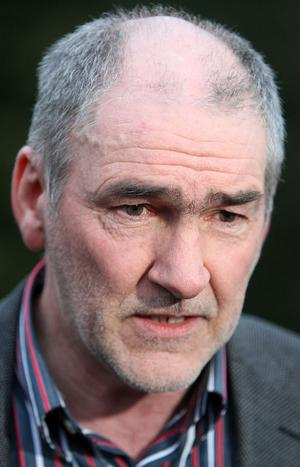 A distraught Mickey Harte at his family home near Ballygawley