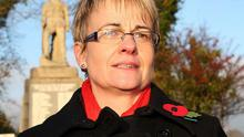 Margaret Ritchie the leader of the SDLP attending the Remembrance Sunday ceremony at the Cenotaph in Downpatrick