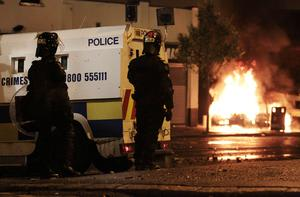 Disturbances in Ardoyne as a fourth night of rioting took place in north Belfast