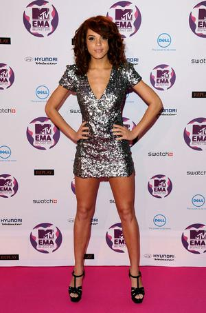 BELFAST, NORTHERN IRELAND - NOVEMBER 06:  Model Jade Thompson attends the MTV Europe Music Awards 2011 at the Odyssey Arena on November 6, 2011 in Belfast, Northern Ireland.  (Photo by Ian Gavan/Getty Images)