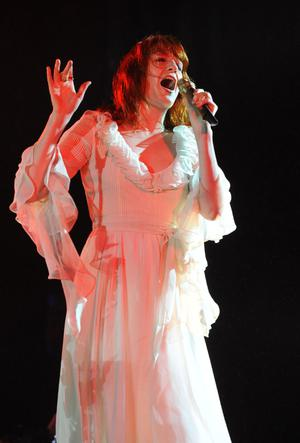 Florence and the Machine performing at Belsonic Festival in Custom House Square, Belfast.