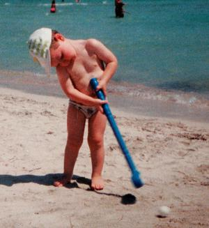 A young Rory McIlroy on holidays in Alcudia Spain.