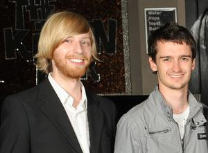 Owen McConnell and Jonny Whyte at the launch of Beck's Vier Music Inspires Art.