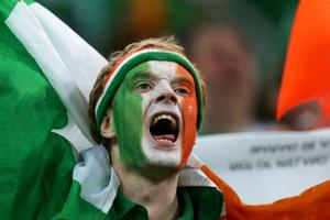 GDANSK, POLAND - JUNE 14:  A Republic of Ireland fan looks on during the UEFA EURO 2012 group C match between Spain and Ireland at The Municipal Stadium on June 14, 2012 in Gdansk, Poland.  (Photo by Alex Grimm/Getty Images)
