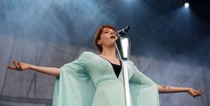 Florence and the Machine performing at Tennents Vital in Boucher playing fields