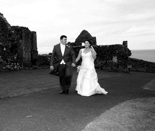 """The wedding of Bebhinn McKinley and Damian Rodgers <p><b>To send us your Wedding Pics <a  href=""""http://www.belfasttelegraph.co.uk/usersubmission/the-belfast-telegraph-wants-to-hear-from-you-13927437.html"""" title=""""Click here to send your pics to Belfast Telegraph"""">Click here</a> </a></p></b>"""